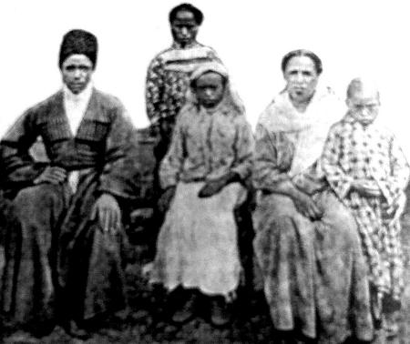 Photo of an Afro-Abkhazian family from Caucasus, 1910.